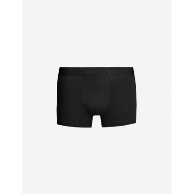 カルバンクライン CALVIN KLEIN メンズ ボクサーパンツ インナー・下着 Logo-detail slim-fit stretch-cotton trunks Black