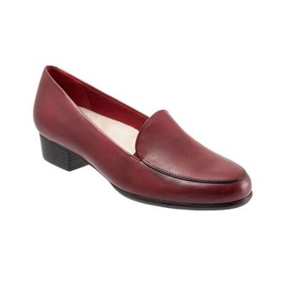 トロッターズ Trotters レディース ローファー・オックスフォード シューズ・靴 Monarch Slip On Loafer Ruby Red