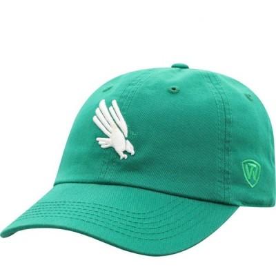 トップオブザワールド Top of the World メンズ キャップ 帽子 North Texas Mean Green Crew Washed Cotton Adjustable White Hat