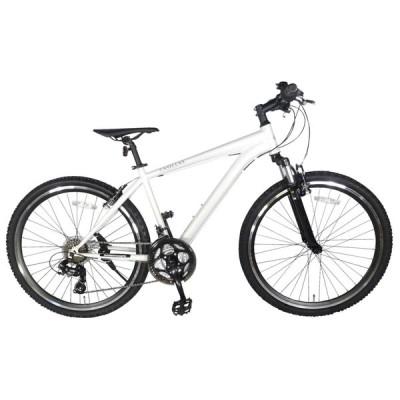 自転車 マウンテンバイク MTB2621 ツー 26インチ 21段変速ギア マットホワイト 白 フロントサスペンション付き 通勤 通学 本体 おしゃれ 安い 完成品