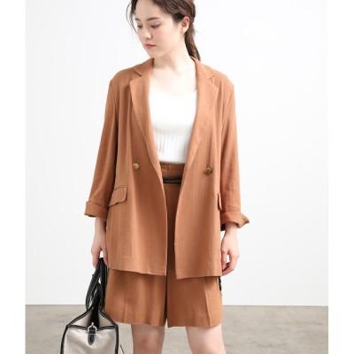 【ビス/ViS】 【セットアップ対応】麻混テーラードジャケット