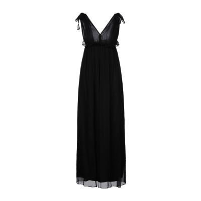ドンダップ DONDUP ロングワンピース&ドレス ブラック 40 シルク 100% ロングワンピース&ドレス