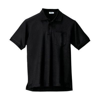 ジーベック(XEBEC) 半袖ポロシャツ 大きいサイズ 90/黒 3Lサイズ 6170 作業服 作業着 ワークウエア ワークウェア メンズ