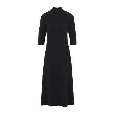 KHAITE 7分丈ワンピース・ドレス ブラック 4 レーヨン 59% / アセテート 37% / ポリウレタン 4% 7分丈ワンピース・ドレス