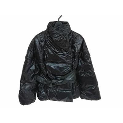 ポールカ PAULEKA ダウンジャケット サイズ36 S レディース 美品 黒 冬物/袖着脱可【中古】20210122