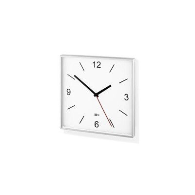 ZACK 60053 Original SILLAR Wall Clock, White Quartz, 10.2 x 10.2 in One AA Battery Needed, not Included 並行輸入品