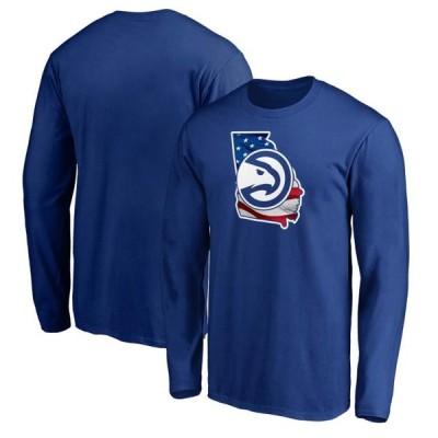 ユニセックス スポーツリーグ バスケットボール Atlanta Hawks Fanatics Branded Banner State Long Sleeve T-Shirt - Royal Tシャツ