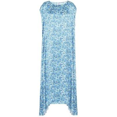 ヴェトモン Vetements レディース ワンピース マキシ丈 ワンピース・ドレス Floral maxi dress Blue/White Flowers