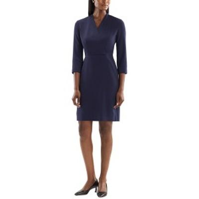エムエメウラフール レディース ワンピース トップス M.M.LaFleur Mini Dress deep indigo