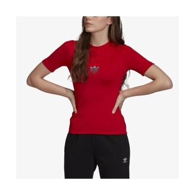 (取寄)アディダス レディース オリジナルス 3D トレフォイル TシャツWomen's adidas Originals 3D Trefoil T-Shirt Scarlet 送料無料