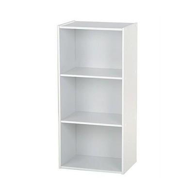 カラーボックス シェルフ 幅42cm 高さ89cm 3段 ホワイト ラック 収納棚 棚 本棚 3段ボックス