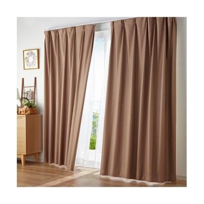 ブロック柄遮熱・防音・1級遮光カーテン&遮熱・夕方まで見えにくい・UVカットレース4枚セット カーテン&レースセット, Curtains, sheer curtains, net curtains(ニッセン、nissen)