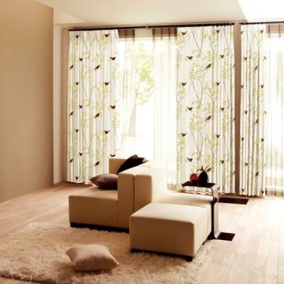 DESIGN LIFE 北欧デザイン遮光カーテン(1枚)MIKI NI KOTORI ミキニコトリ(100×135)ウォッシャブル 形状記憶加工 日本製