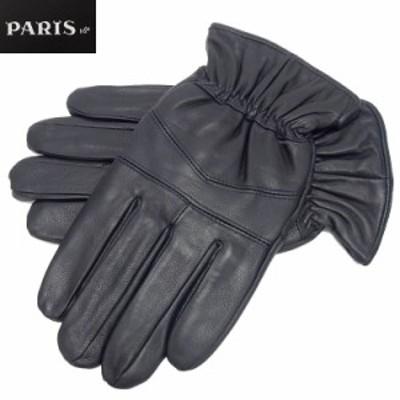 ◆手袋◆PARIS16e 羊革/シープスキン ネイビー メンズ グローブ メール便可 LAM-N04-NV