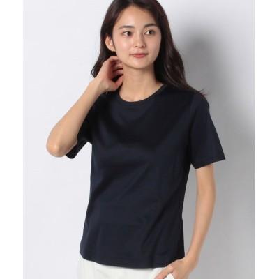(Leilian/レリアン)無地Tシャツ/レディース ネイビー