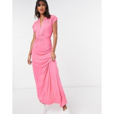 フレンチコネクション レディース ワンピース トップス French Connection Meadow maxi dress in pink