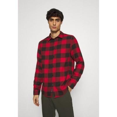 ピアワン シャツ メンズ トップス Shirt - red/black