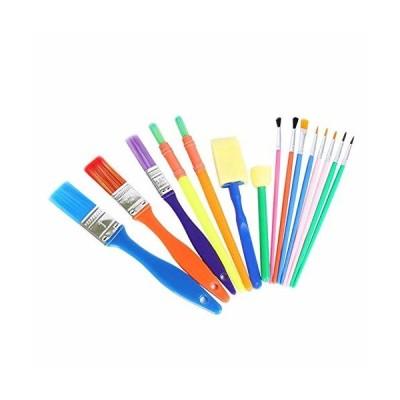 AFKshop スポンジブラシセット 画材筆 ペイント ブラシ アクリル筆 子供用 15個セット