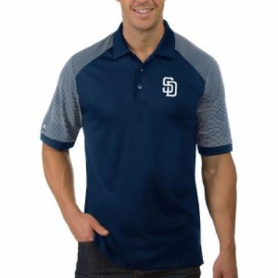 アンティグア Antigua メンズ ポロシャツ トップス San Diego Padres Engage Navy Polo