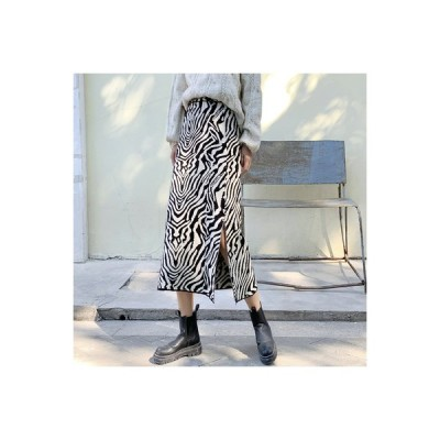 【送料無料】スカート 秋冬 女 年 韓国風 ハイウエスト 着やせ ミディ丈 サイ | 364331_A64021-9941661