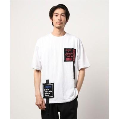 tシャツ Tシャツ セマンティックデザイン/semantic design テープ&ワッペン クルーネック半袖ビッグTシャツ
