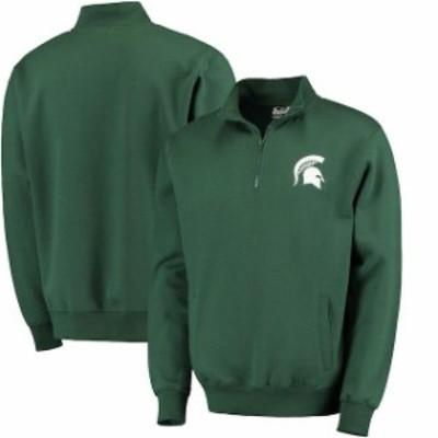 Stadium Athletic スタジアム アスレティック スポーツ用品  Michigan State Spartans Green Logo Quarter-Zip Sweats