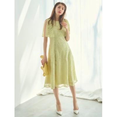 (CELFORD/セルフォード)スパンコール刺繍ドレス/レディース LIME