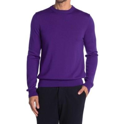 クイン メンズ ニット&セーター アウター Crew Neck Knit Sweater PURPLE