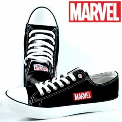 アベンジャーズ キャンバス スニーカー メンズ レディース ユニセックス 靴 マーベル MARVEL ディズニー Y_KO 3010 ブラック 黒 190710