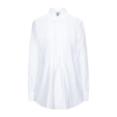 EUROPEAN CULTURE 無地シャツ&ブラウス  レディースファッション  トップス  シャツ、ブラウス  長袖 ホワイト