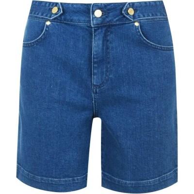 ビバ Biba レディース ショートパンツ デニム ボトムス・パンツ Button Denim Shorts Blue