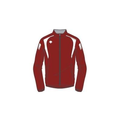 デサント カスタムオーダー受注生産 トレーニングジャケット(ユニセックス) 陸上・ランニング ウエア ORN1710-EGWW ベースカラー:エンジ