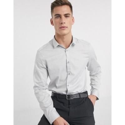 カルバンクライン Calvin Klein メンズ シャツ トップス Walt neps heather shirt グレー