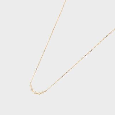 ココシュニック COCOSHNIK K18ダイヤモンド アーチ グラデネックレス小 (イエローゴールド)