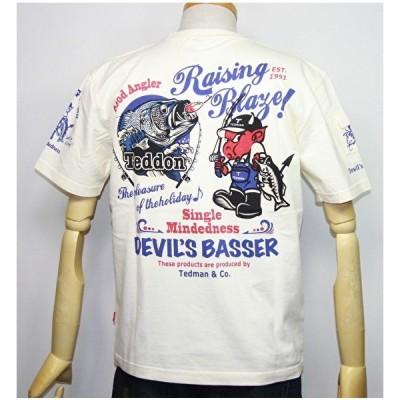 エフ商会・TEDMAN'S ・テッドマン バス釣り(TEDDONテドン)半袖Tシャツ TDSS-502【ホワイト】(2044)新品