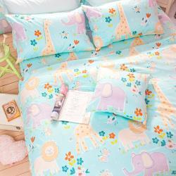 【OLIVIA】 肯亞大冒險 綠  加大雙人床包被套四件組