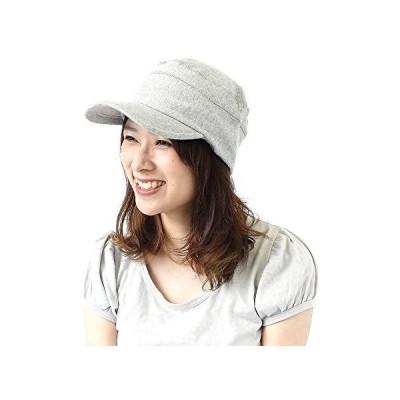 帽子 メンズ キャップ おしゃれ レディース 大きいサイズ スウェット ワークキャップ (グレー M)