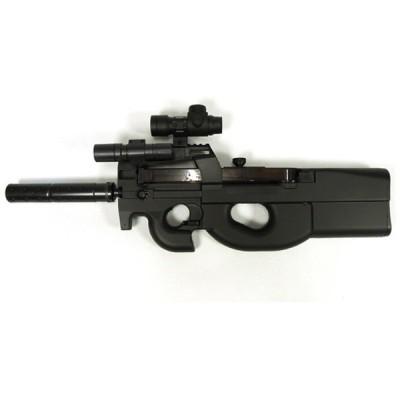 SIS D90H [電動エアガン(ベルギーFN社 P90モデル/ドットサイト&LEDライト装備)]