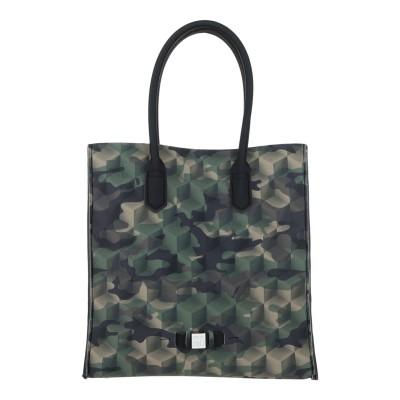 SAVE MY BAG ハンドバッグ ミリタリーグリーン ポリエーテル 50% / ポリエステル 40% / ポリウレタン 10% ハンドバッグ