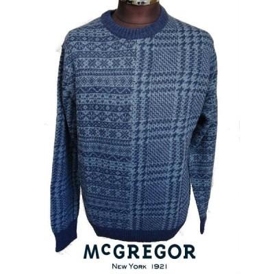 マクレガー(McGREGOR)・クレイジーパターンフェアアイル柄クルーネックセーター