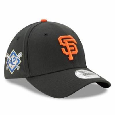 New Era ニュー エラ スポーツ用品  New Era San Francisco Giants Black 2018 Jackie Robinson Day 39THIRTY Flex Hat