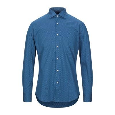 INGRAM シャツ ブルー 43 コットン 97% / ポリウレタン 3% シャツ