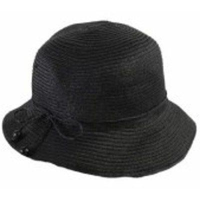 ファッション 帽子 August Hat Black Toyo Cloche OS