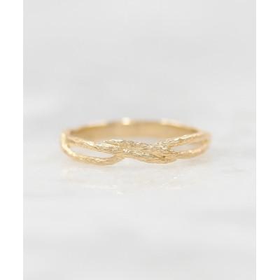 指輪 a Cote◆K10 クロスより糸 ゴールド マットリング