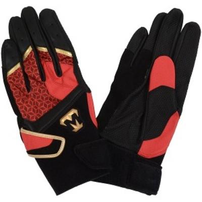野球 バッティンググローブ 手袋 両手 レボルタイガー アルファ パワーロック AGMTKS-009 メンズ RED