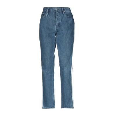YOOX - CALVIN KLEIN JEANS ジーンズ ブルー 24W-30L コットン 100% / 牛革 ジーンズ