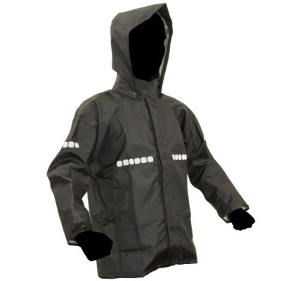 APT RAIN HI(アプトレインハイ) 前垣 AP1000ワーキングレインスーツ ブラック ELサイズ