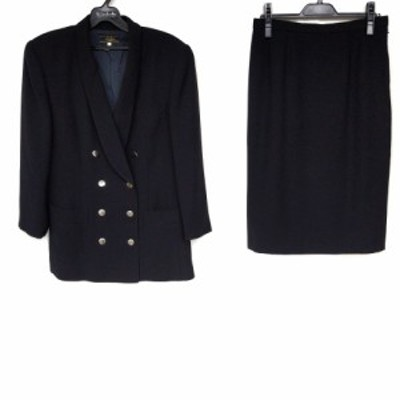 レリアン Leilian スカートスーツ サイズ11 M レディース - 黒【中古】20210607
