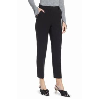 ファッション パンツ Something Navy NEW Black Womens Size 8X26 Front-Tab Dress Pants Stretch #826