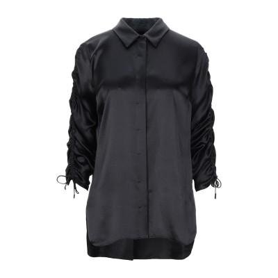 ELIE TAHARI シャツ ブラック S シルク 100% シャツ